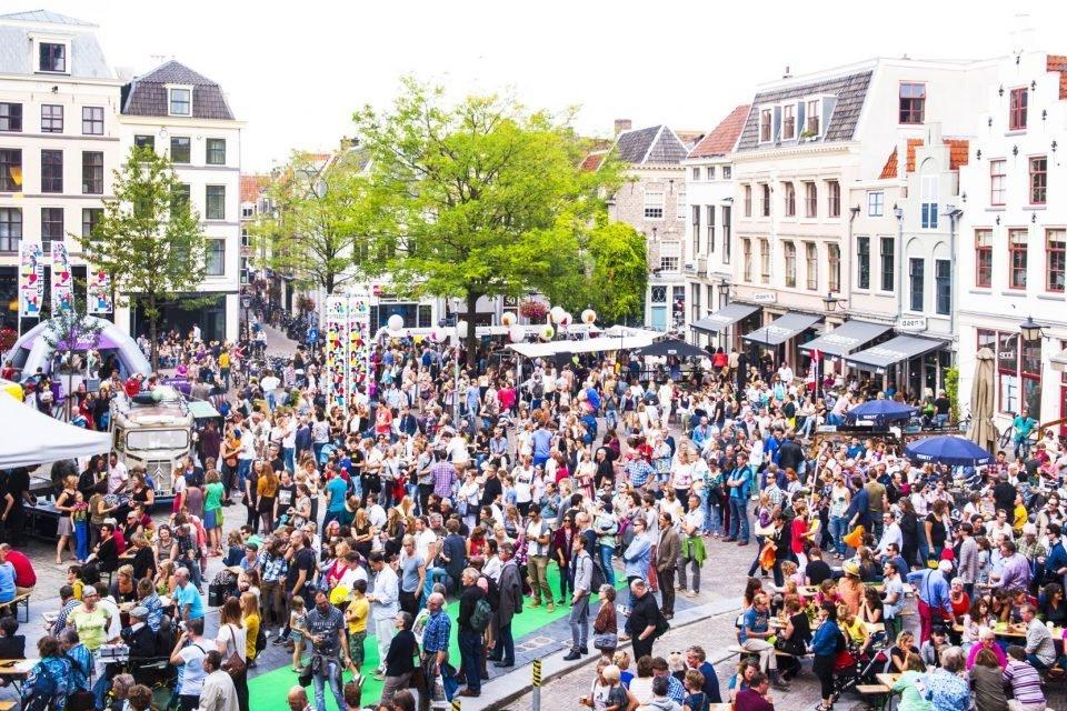 Activiteiten tijdens het Uitfeest in de binnenstad.